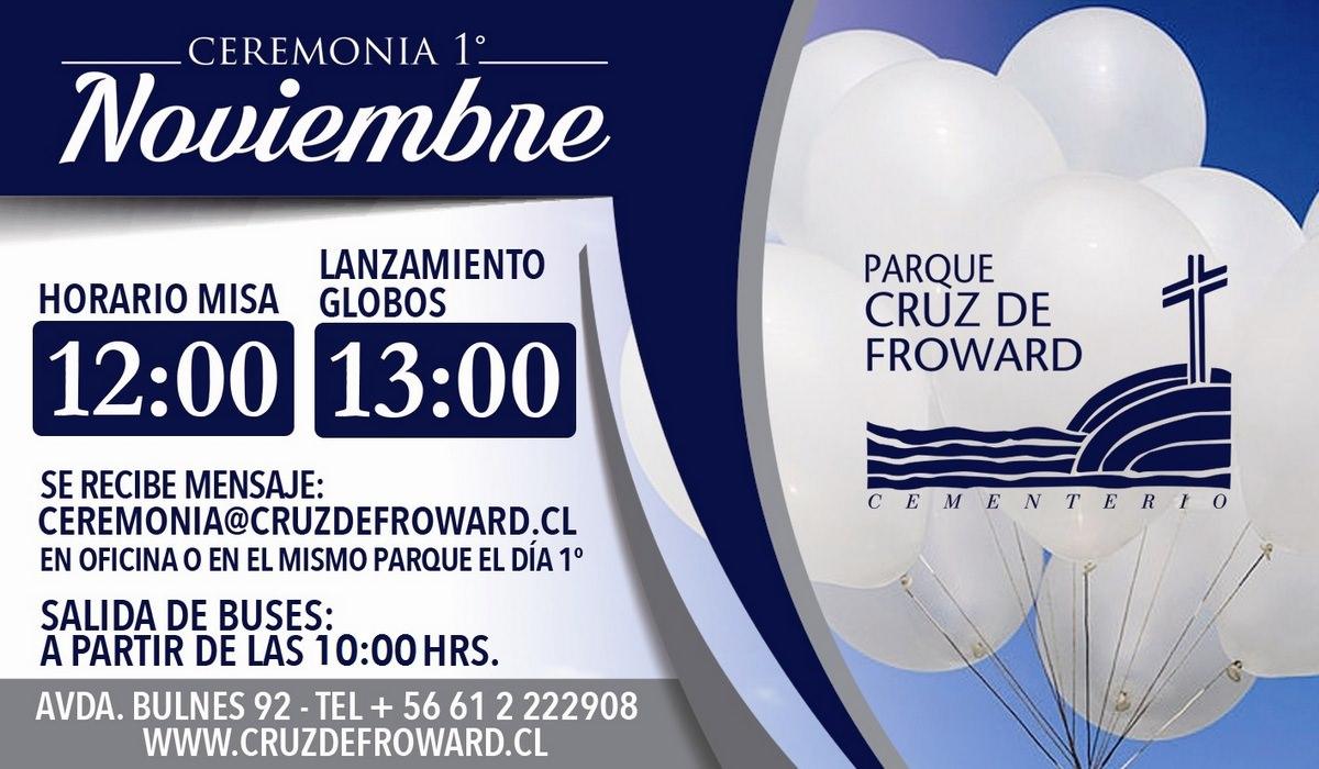 Invitación Ceremonia del 1º de Noviembre Parque Cruz de Froward