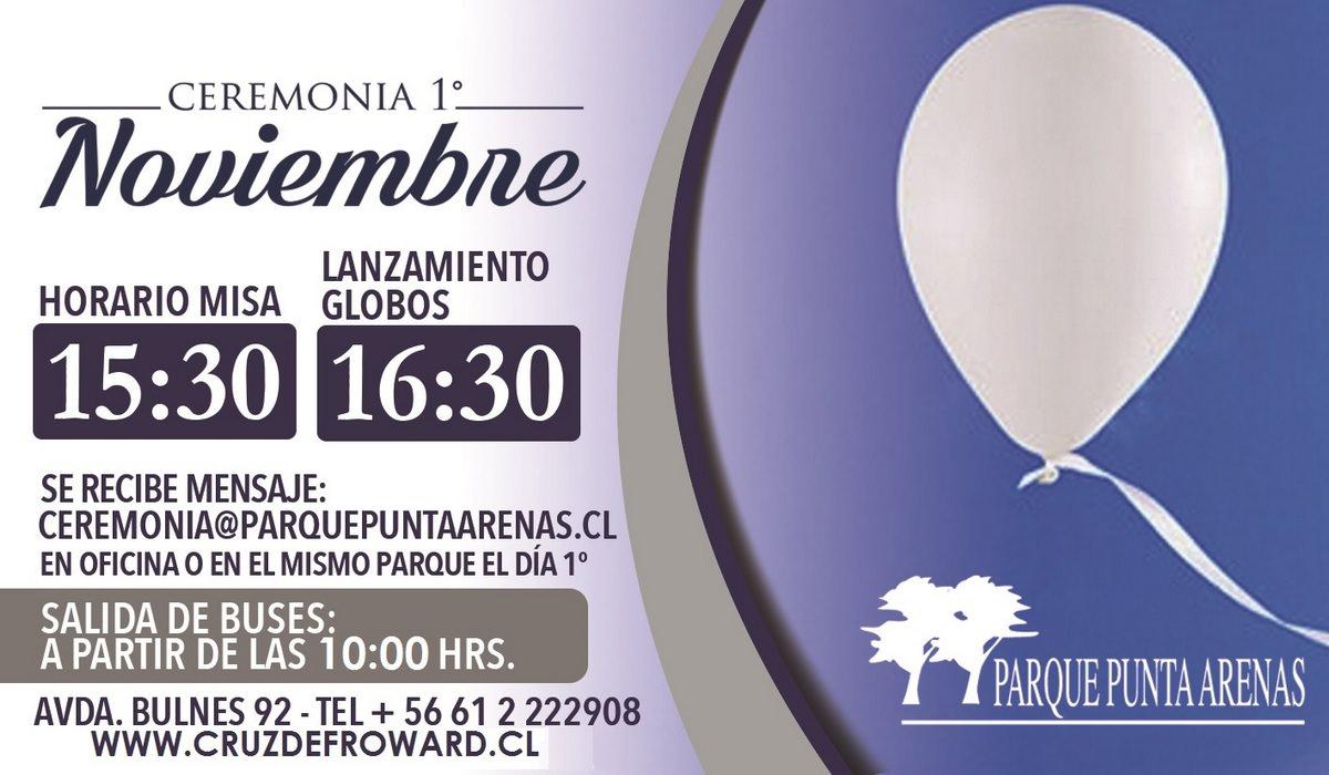 Invitación Ceremonia del 1º de Noviembre Parque Punta Arenas