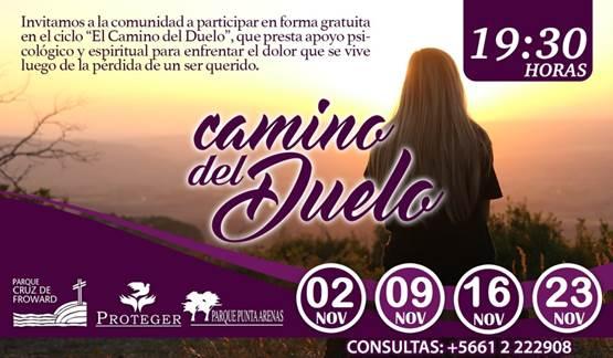 """Ciclo """"Camino del Duelo"""", se realizará a contar del 02 de Noviembre"""