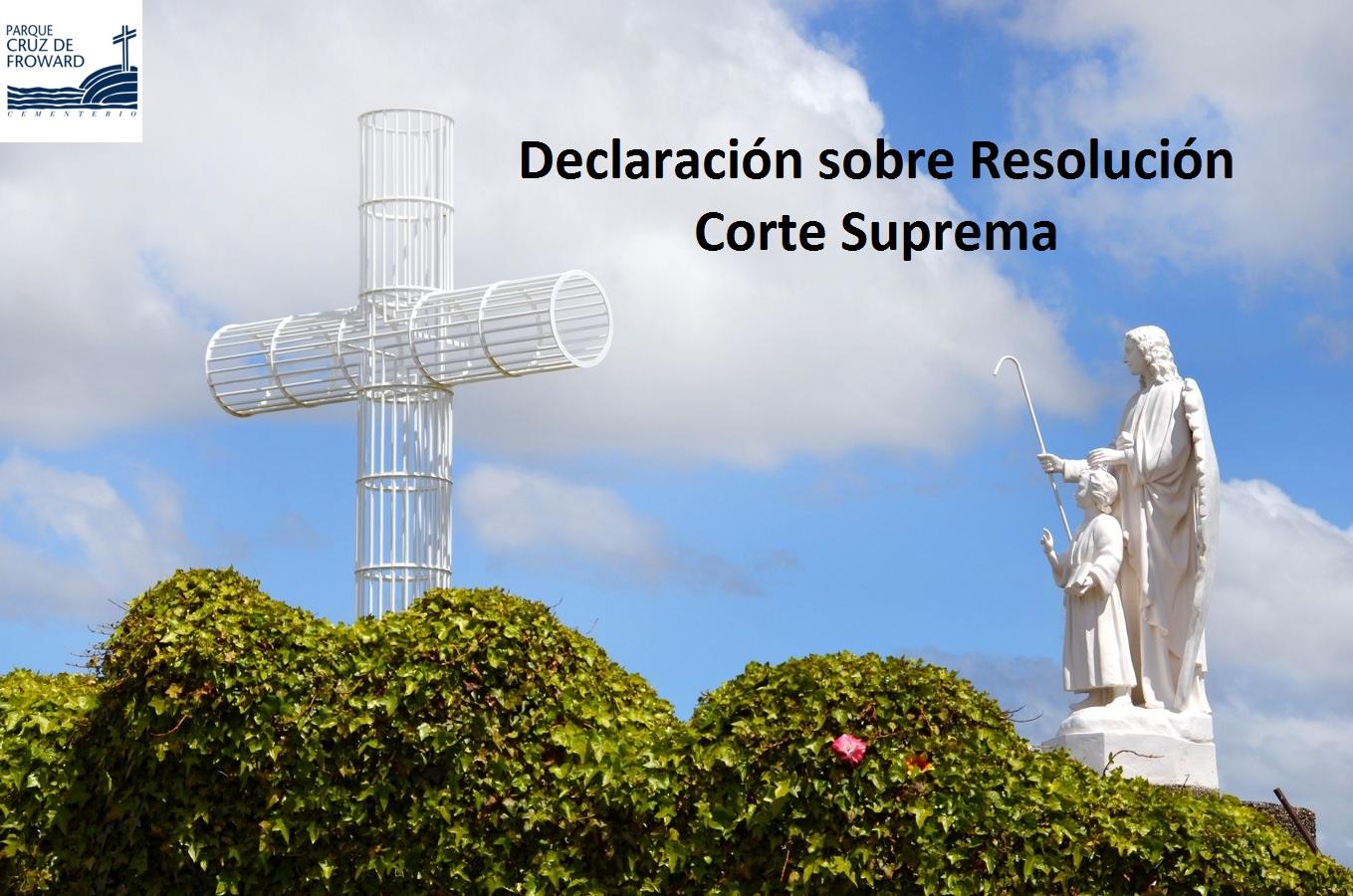 Declaración sobre Resolución Corte Suprema
